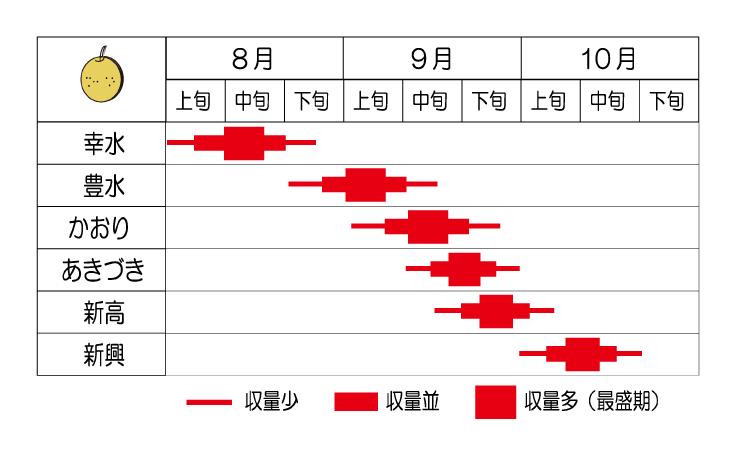 品種毎収穫期一覧